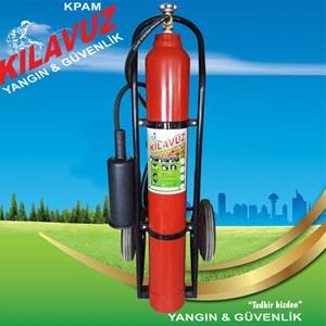 10 kg Karbondioksit Gazlı Arabalı Yangın Söndürme Cihazı (CO2)