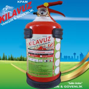 1 Kg Kuru Kimyevi Tozlu Yangın Söndürme Cihazı (ABC Tozlu)
